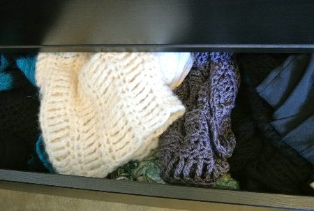 crochet in drawer Welcome to My Crochet Covered Home (Photo Tour)
