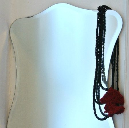crochet necklace Welcome to My Crochet Covered Home (Photo Tour)