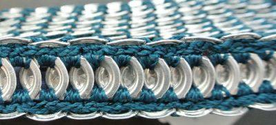 crochet pop top clutch bag