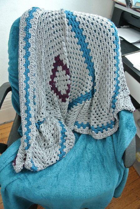 crochet square blanket Welcome to My Crochet Covered Home (Photo Tour)