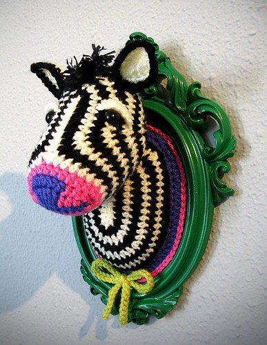 crochet zebra 10 Examples of Crochet Taxidermy