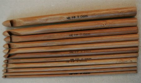dark wooden crochet hooks Announcing the Winners of the Big 12 Days of Christmas Crochet Giveaway!