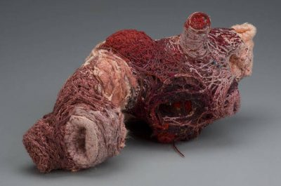 dogknot anatomical sculptures 400x265 Actress and Crochet Artist Sarah Louisa Burns