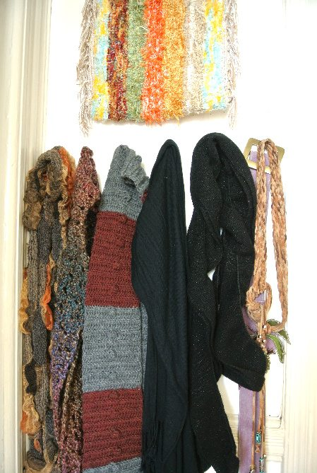 more crochet scarves Welcome to My Crochet Covered Home (Photo Tour)