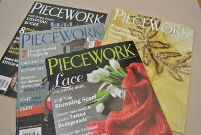 piecework craft magazine 400x268 Announcing the Winners of the Big 12 Days of Christmas Crochet Giveaway!