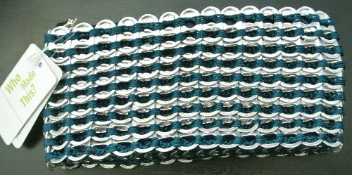 pop tab crochet clutch bag My Escama Pop Top Crochet Bag
