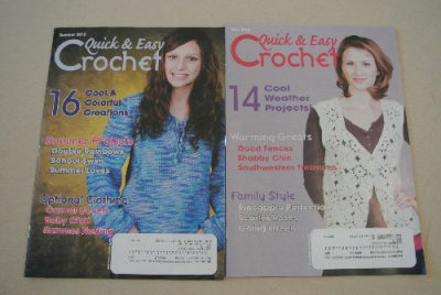 quick and easy crochet magazine 400x268 Announcing the Winners of the Big 12 Days of Christmas Crochet Giveaway!
