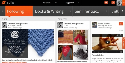 sulia home page 400x203 10 Knitting and Crochet Experts on Sulia