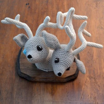 taxidermy crochet animals 400x400 10 Examples of Crochet Taxidermy