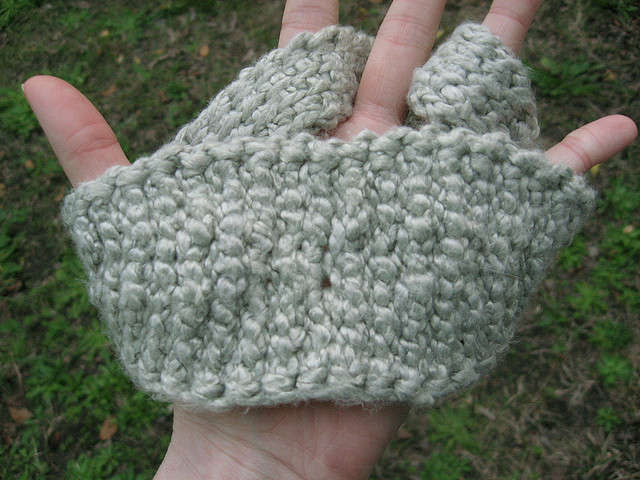 tunisian crochet eye mask