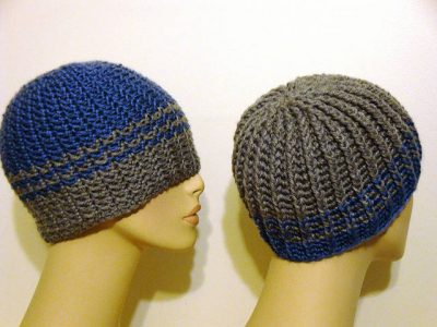 unisex reversible crochet hat pattern 400x300 20 Free Patterns for One Skein Projects You Can Complete Before Christmas