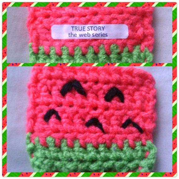 watermelon crochet cozy