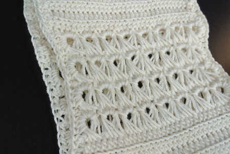 white crochet scarf broomstick My New Scarf: Broomstick Lace Cotton