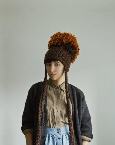 yokoo crochet hat 400x502 Total Process Crochet Artist Yokoo Gibran