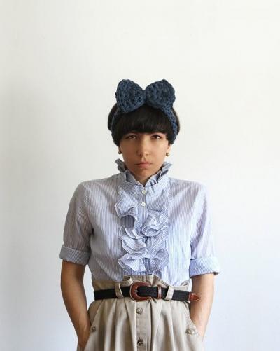 yokoo crochet headband 400x501 Total Process Crochet Artist Yokoo Gibran