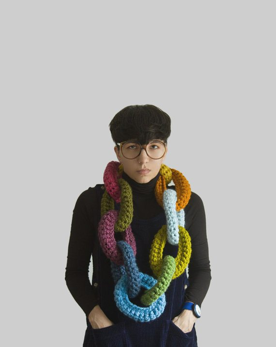 yooka crochet chains Geek Chic: Hot Style in Glasses and Crochet