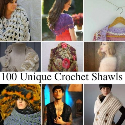 100 unique crochet shawls 400x400 How to Crochet a Shawl: The Ultimate Resource Guide