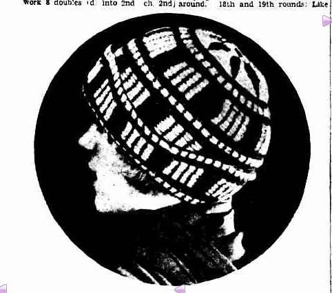 1930 crochet hat