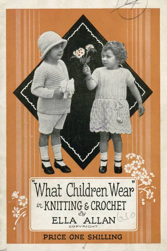 1930 livre de modèle de crochet Vintage
