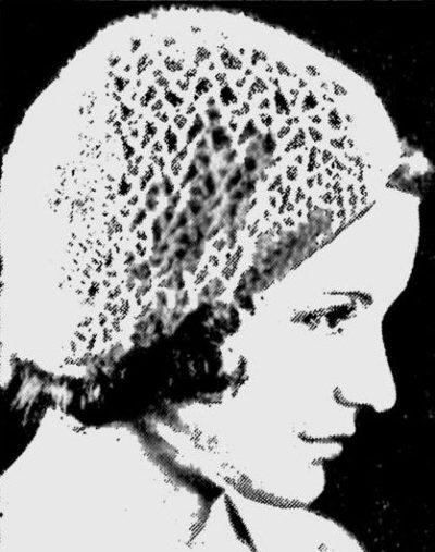 1932 boina de crochê