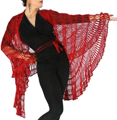 convertible crochet shawl1 400x408 10 Terrific Crochet Shawl Pattern Designers and their Most Popular Patterns