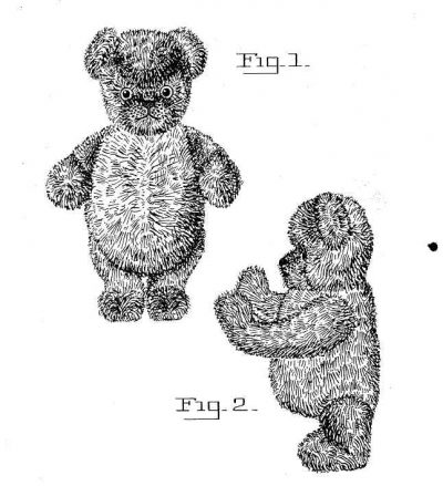crochet bear patent 400x439 50 Years of Crochet History: 1930