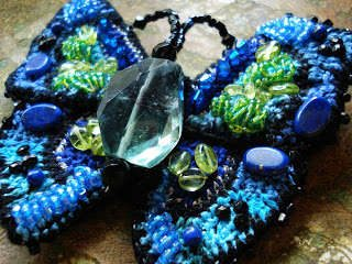 crochet butterfly beaded