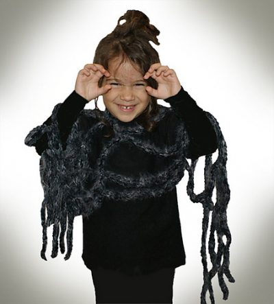 crochet costume 400x443 Roundup of Crochet Masks and Costumes in Celebration of Halloween