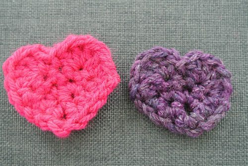 crochet heart appliques My Crochet: Recently Made Small Items (+ Cutest Kitten Ever!)