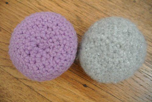 crochet, balles de jonglage