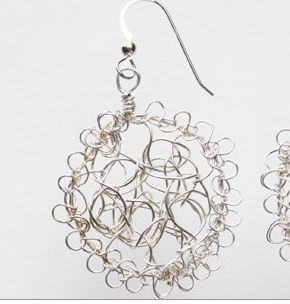 crochet spiderweb earrings