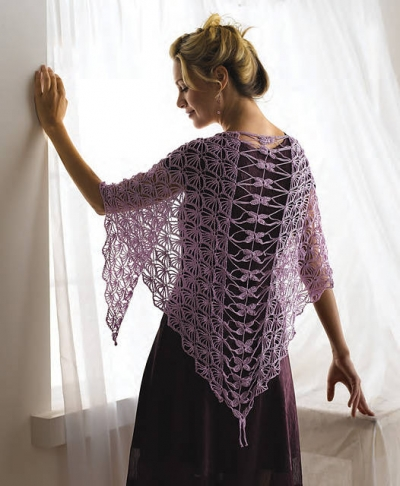 dragonfly crochet shawl 400x486 10 Terrific Crochet Shawl Pattern Designers and their Most Popular Patterns