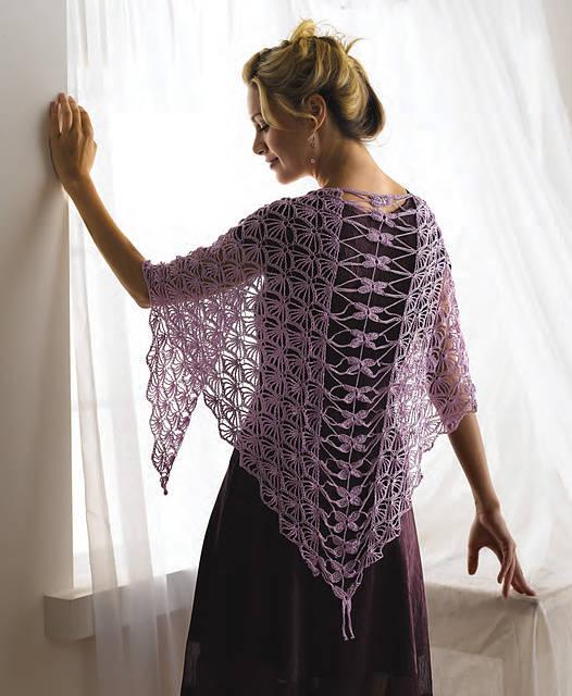 dragonfly crochet shawl