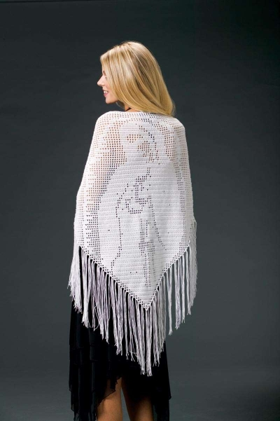 filet crochet shawl pattern 400x601 10 Terrific Crochet Shawl Pattern Designers and their Most Popular Patterns