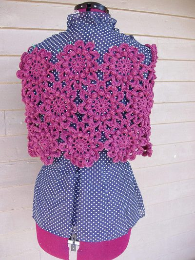flowering crochet shawl 400x533 10 Terrific Crochet Shawl Pattern Designers and their Most Popular Patterns