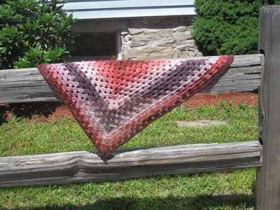 half granny square shawl 400x300 How to Crochet a Shawl: The Ultimate Resource Guide