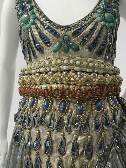 detalle del vestido de Poiret
