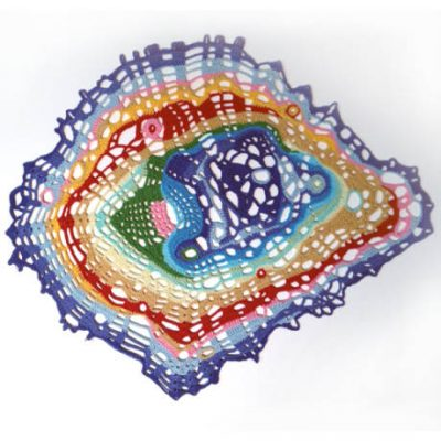 Napperon crochet arc-en-ciel