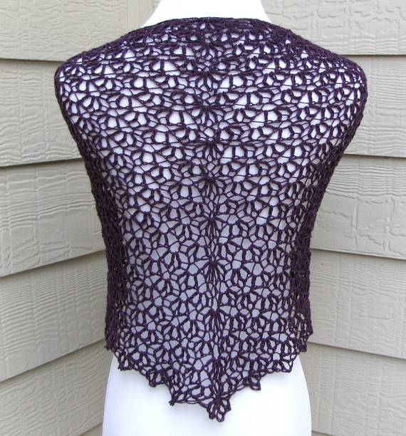 Crochet Shawl Patterns : This is the simple scallops crochet shawl pattern sold on Etsy by ...
