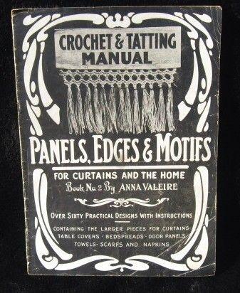 vintage de livre de dentelle et crochet