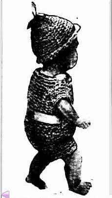 vintage crochet doll