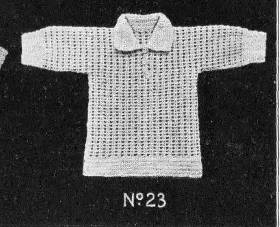 vintage crochet girls jumper 50 Years of Crochet History: 1930