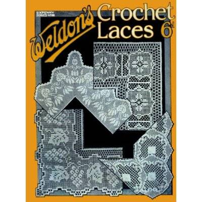 vintage filet crochet book