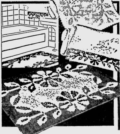 1930s crochet rug 400x449 50 Years of Crochet History: 1936