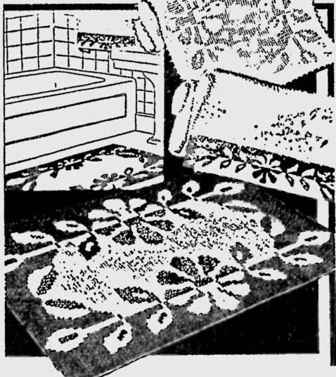 1930s crochet rug