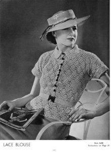 1935 Crochet patrones