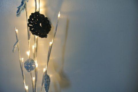 luzes de crochê