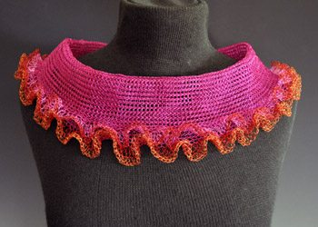 arline fisch crochet neckwear Crocheted Wire Jewelry of New York Artist Arline Fisch