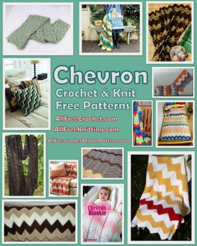 testes padrões do crochet de Chevron