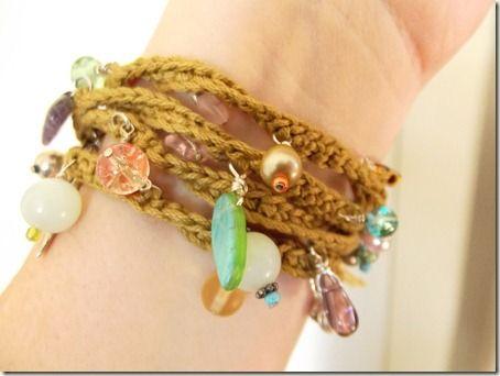crochet charm bracelet